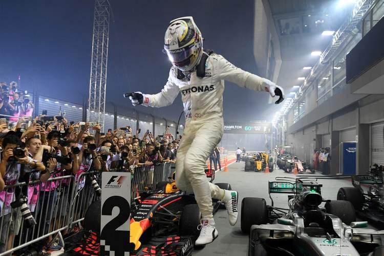Lewis Hamilton. winner
