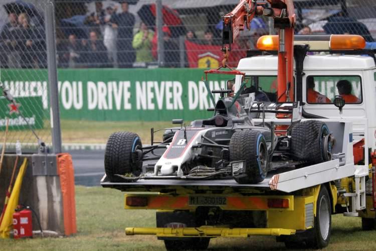 Romain Grosjean, crash