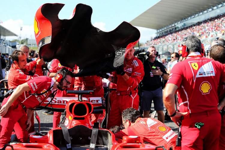 Sebastian Vettel, grid