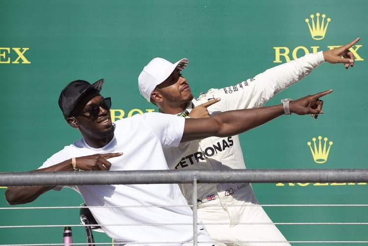 Lewis Hamilton, Usain Bolt