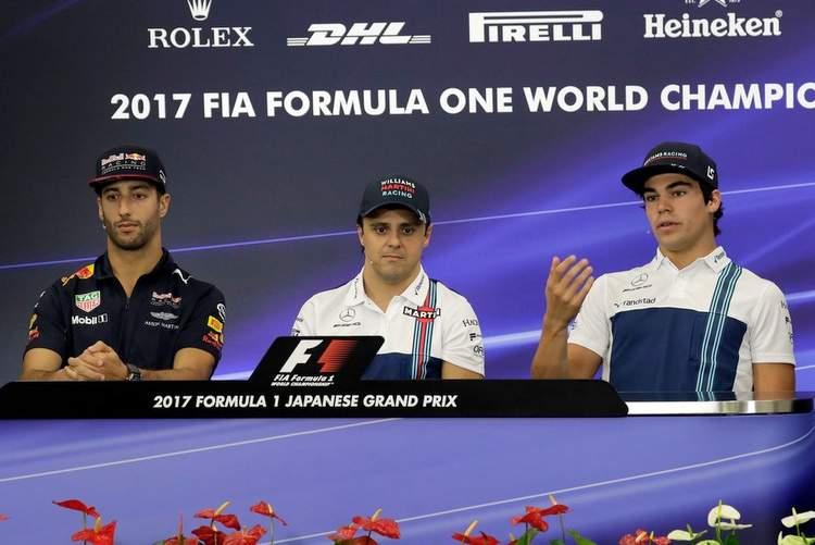 Lance Stroll, Felipe Massa, Daniel Ricciardo