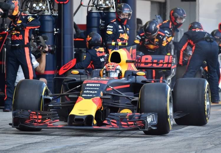 Max Verstappen, pitstop