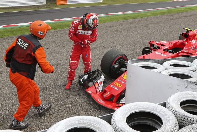 Kimi Raikkonen, crash