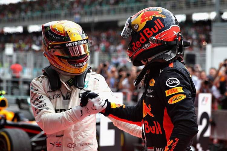 Lewis Hamilton. Max Verstappen