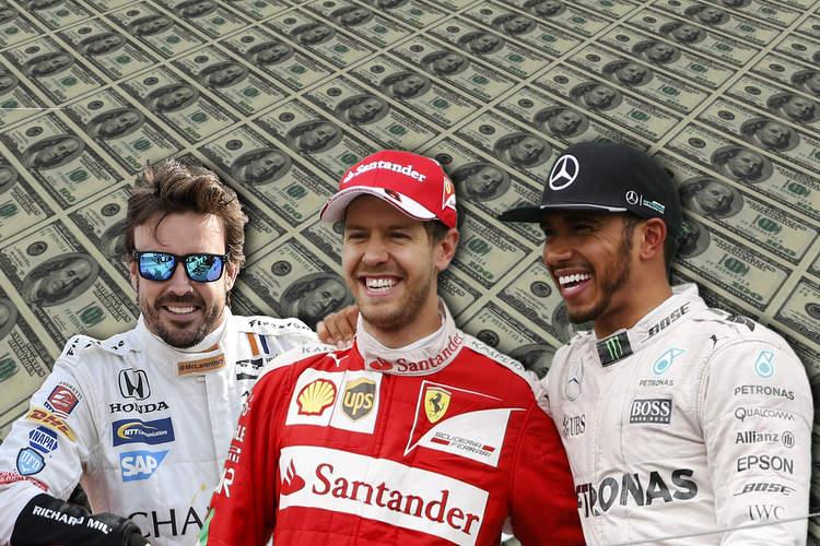 Sebastian Vettel, Lewis Hamilton, Fernando Alonso