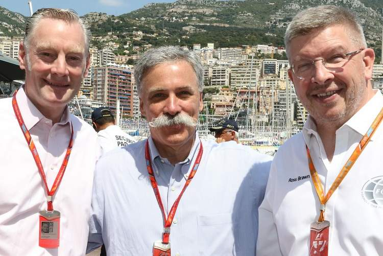 Sean Bratches, Ross Brawn, Chase Carey