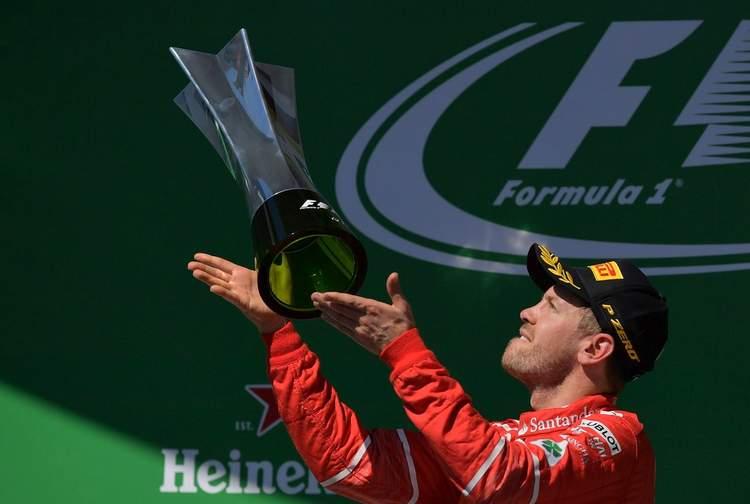Sebastian Vettel, winner