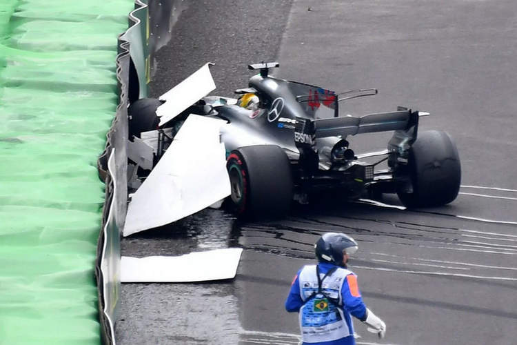 Hamilton crash