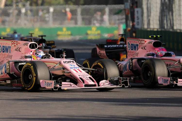 Azerbaijan Grand Prix Baku 22 25 June 2017 25 06 2017 Race Sergio Perez MEX Sahara Force In