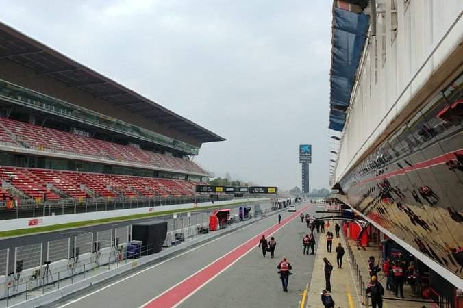 Barcelona grandstand Spanish Grand Prix
