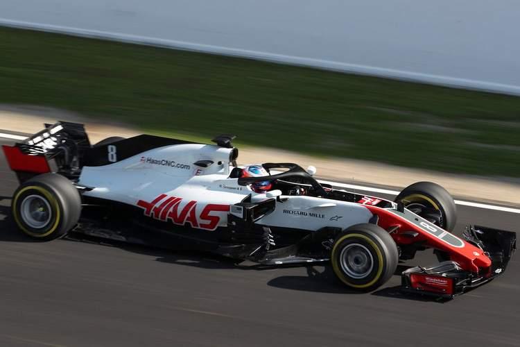 Romain Grosjean, Haas VF18