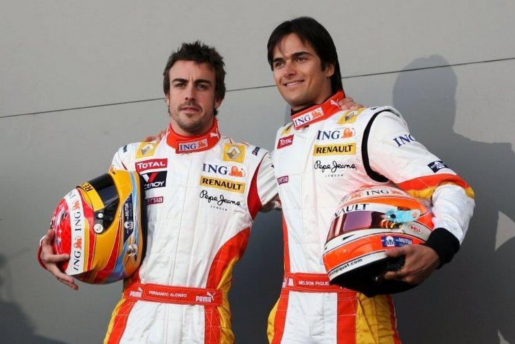 Fernando Alonso, Nelson Piquet_wall
