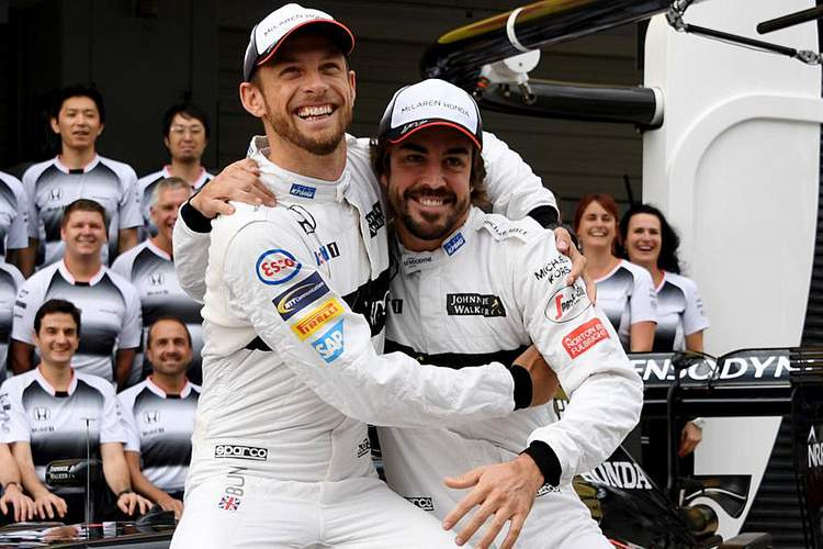 Jenson Button, Fernando Alonso