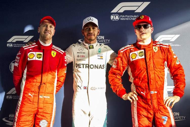 Vettel, Hamilton, Raikkonen
