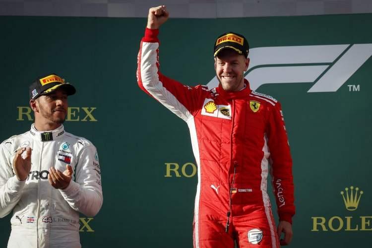 Hamilton, Vettel, podium