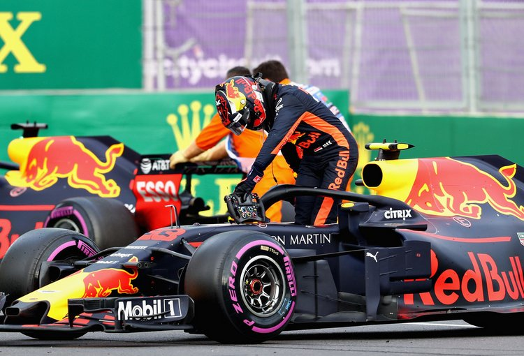Verstappen, crash, Ricciardo