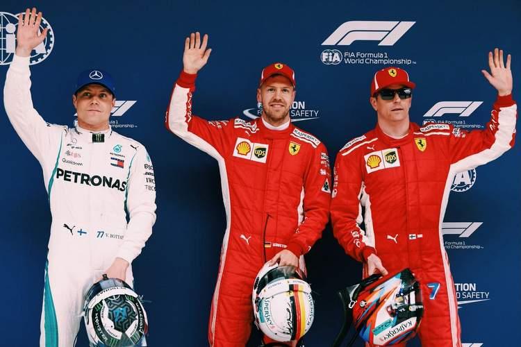 Sebastian Vettel, bottas, raikkonen, qualifying