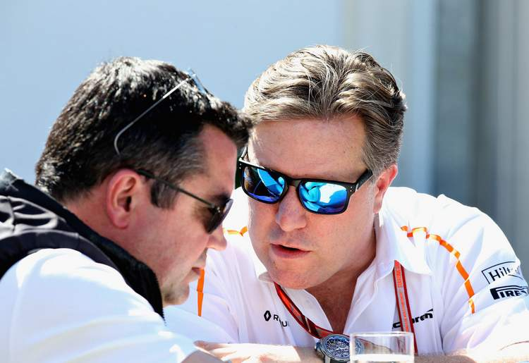 Eric Boullier, Zak Brown