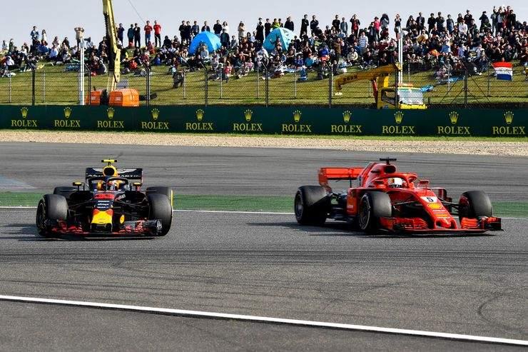 Verstappen, Vettel, crash