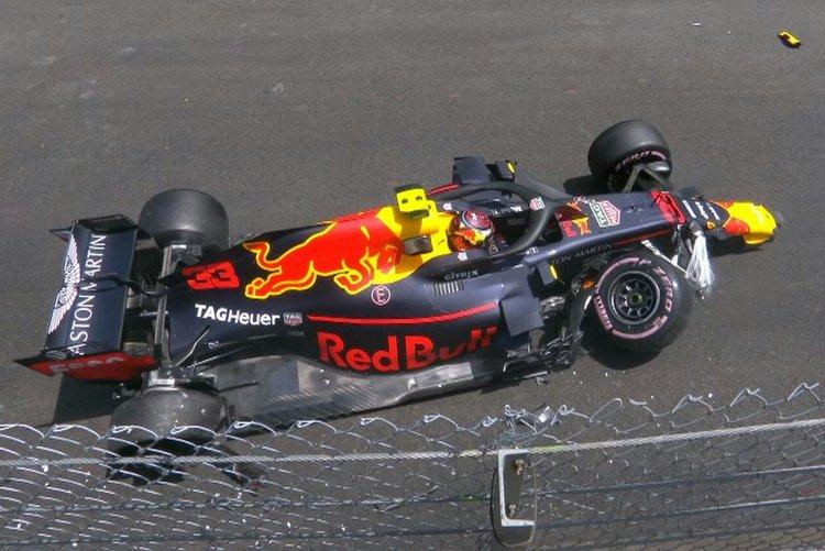 Verstappen, monaco, crash, accident
