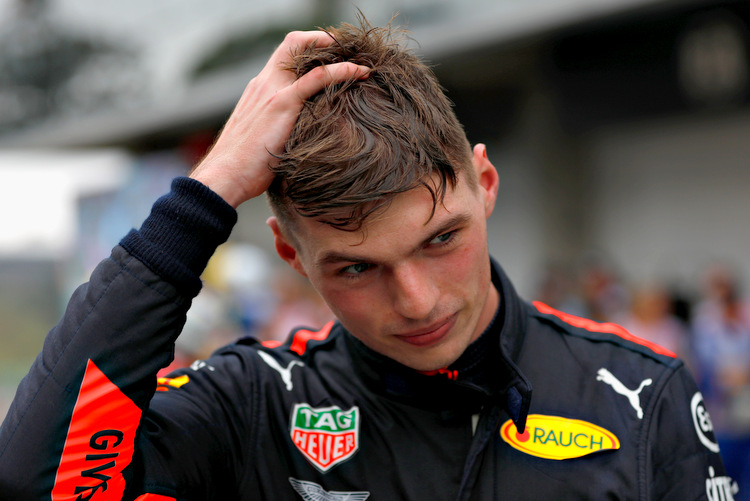 SAO PAULO, BRAZIL - NOVEMBER 11: Second place finisher Max Verstappen of Netherlands and Red Bull Racing looks on in parc ferme during the Formula One Grand Prix of Brazil at Autodromo Jose Carlos Pace on November 11, 2018 in Sao Paulo, Brazil. (Photo by Will Taylor-Medhurst/Getty Images) // Getty Images / Red Bull Content Pool // AP-1XFZ7HEKW1W11 // Usage for editorial use only // Please go to www.redbullcontentpool.com for further information. //