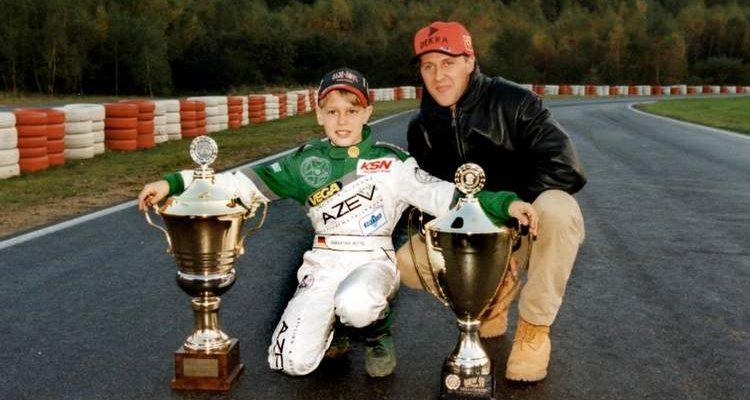 Vettel, Schumacher, karting