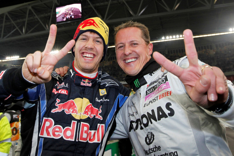 Vettel and Schumacher team up for ROC Mexico
