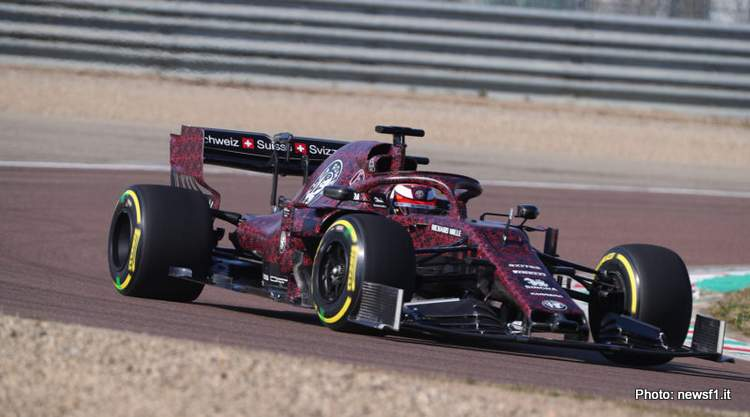 First photos of 2019 F1 Alfa Romeo out on track