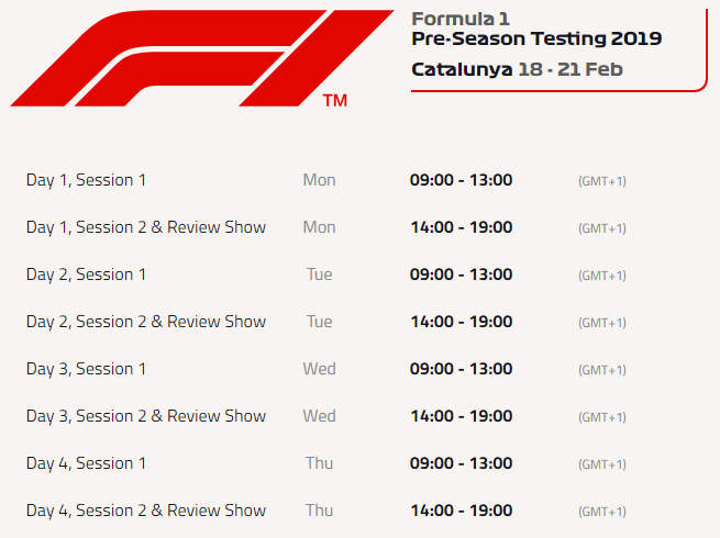 Barcelona F1 Test: Full driver line-ups and live TV schedule | GRAND