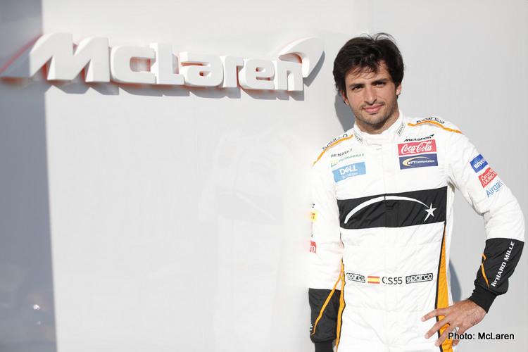 Carlos Sainz makes his McLaren debut at the 2018 Abu Dhabi