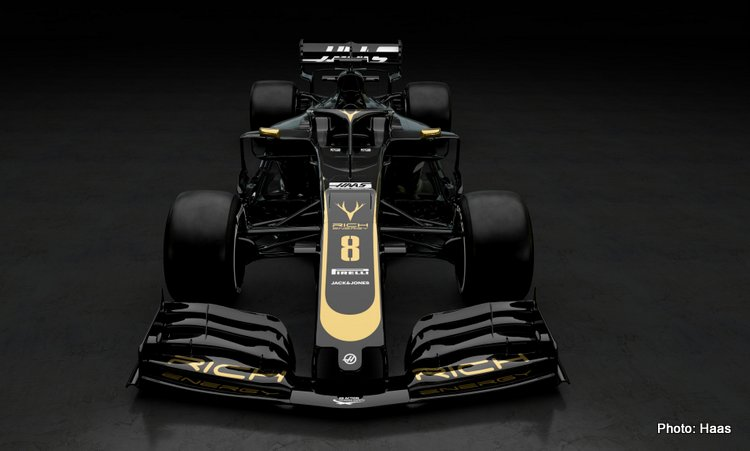 Haas Reveal 2019 Black Gold Livery On 2018 Car Grand Prix 247