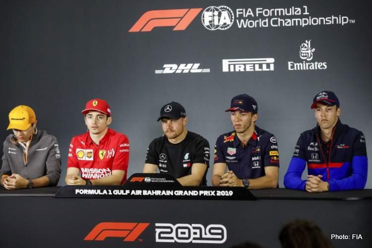 Bahrain Grand Prix: Driver Press Conference   GRAND PRIX 247