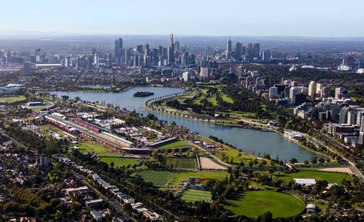 Albert Park Melbourne aerieal photo