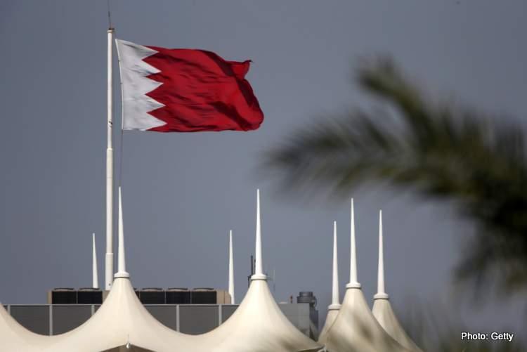 Bahrain flag over F1