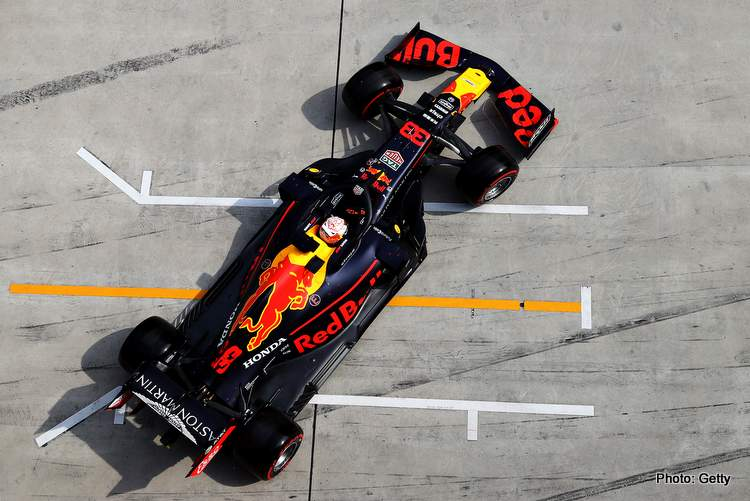 SHANGHAI, CHINA - APRIL 13: Max Verstappen of the Netherlands driving the (33) Aston Martin Red Bull Racing RB15 leaves the garage during qualifying for the F1 Grand Prix of China at Shanghai International Circuit on April 13, 2019 in Shanghai, China. (Photo by Mark Thompson/Getty Images) // Getty Images / Red Bull Content Pool // AP-1Z13Q5A711W11 // Usage for editorial use only // Please go to www.redbullcontentpool.com for further information. //