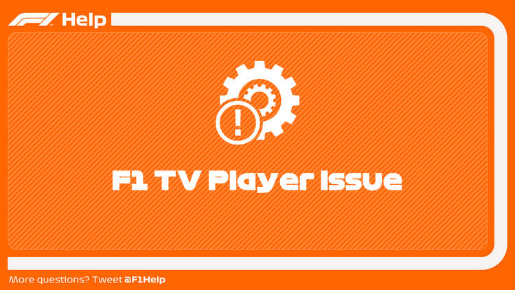 F1 TV player issue image