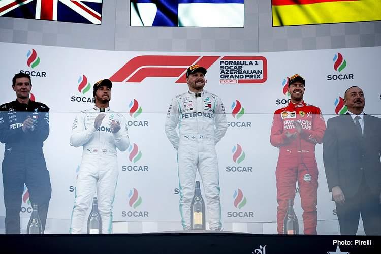 baku podium hamilton vettel baku bottas 2019