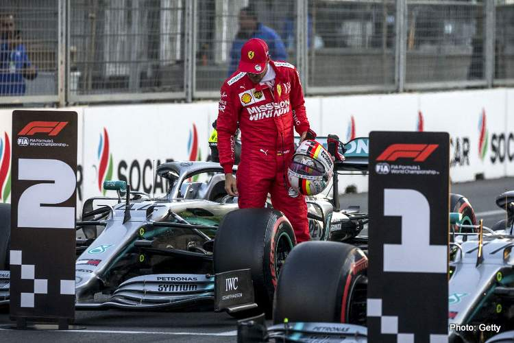 vettel mercedes ferrari baku 2019 photo
