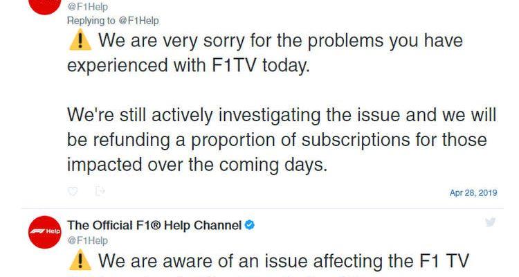 F1 TV Error Message   GRAND PRIX 247