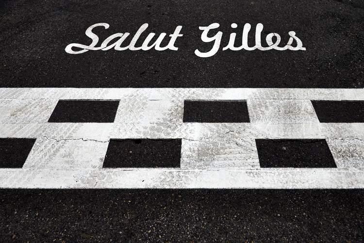 Salut Gilles Villeneuve start finish line Montreal