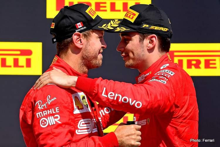 Vettel leclerc canada podium