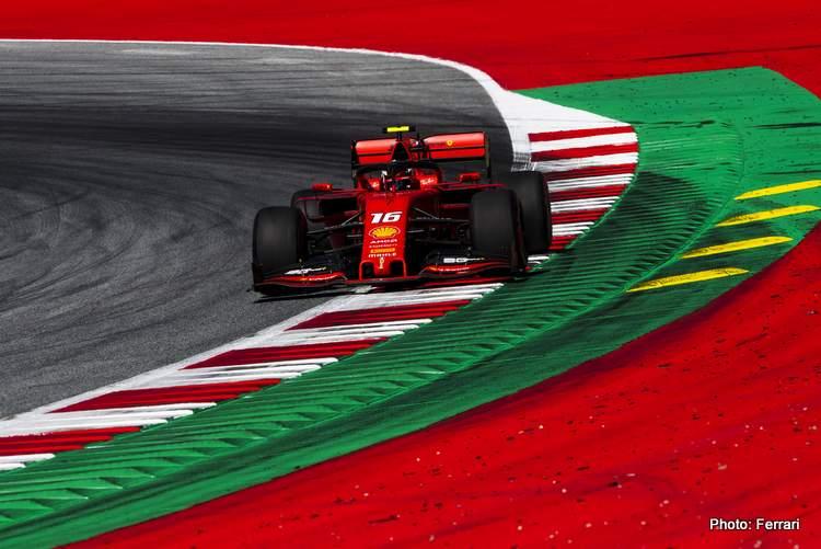 Austria FP2: Leclerc tops, Max and Bottas crash, Seb close call