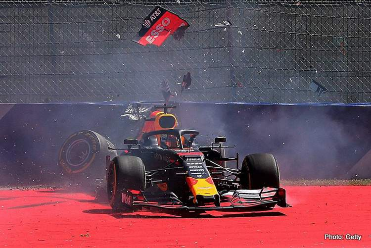 Verstappen: Crashes happen but maybe it's a good thing