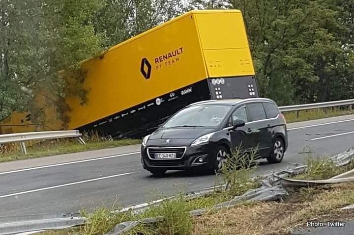 Renault Truckie Injured In Crash Heading To Hungaroring