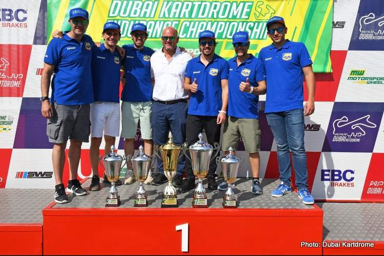 2019 Dubai Kartdrome 24 Hours Alonso winner podium karting 14-Dec-19 1-55-17 PM.34