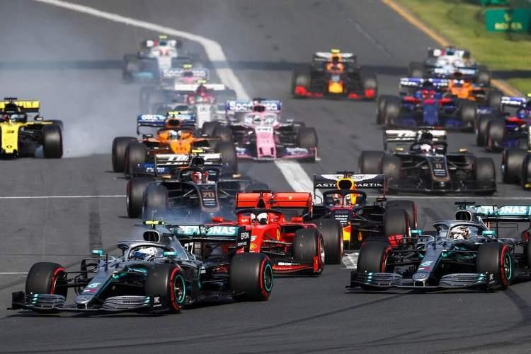 2019 Australian Grand Prix start