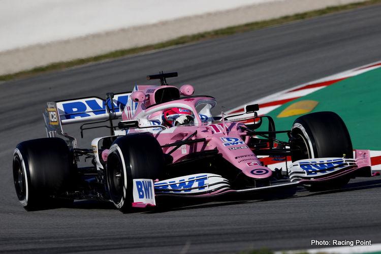 Sergio Perez F1 testing 2020