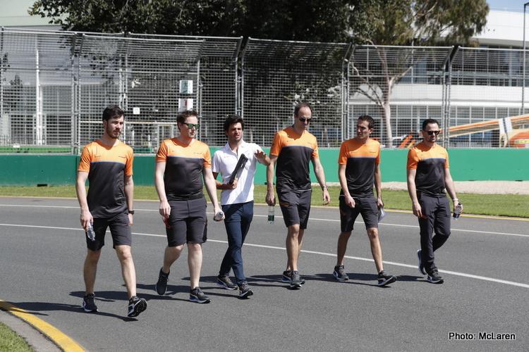 Carlos Sainz track walk