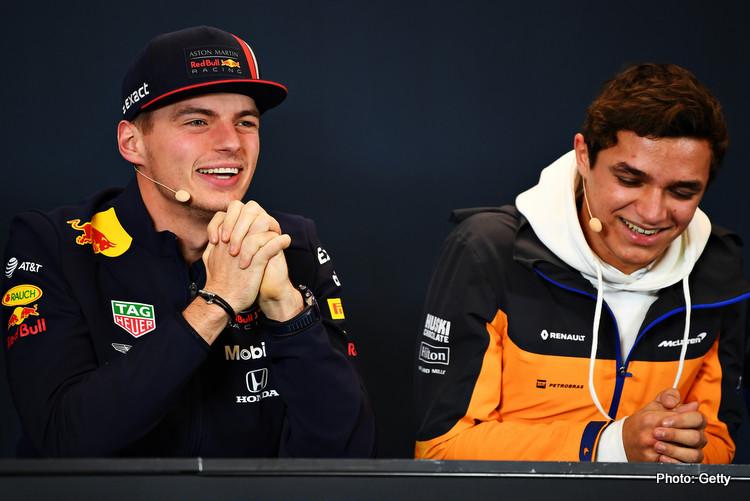 Max Verstappen and Lando Norris