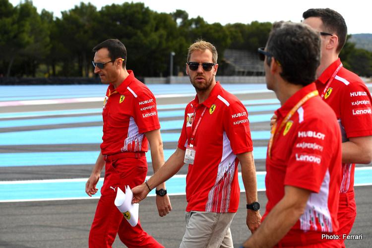 Sebastian Vettel track walk